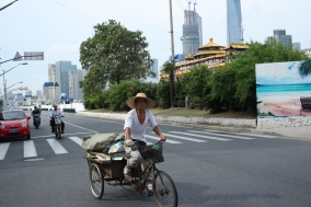 Nine million bicycles in Shanghai